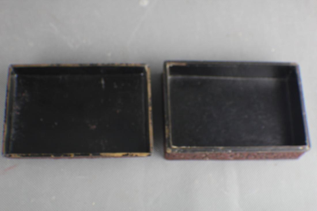 A Cinnabar Lacquer Box ; Qing Dynasty