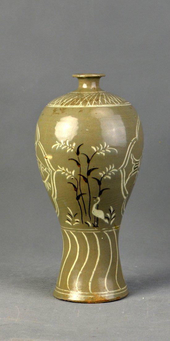 A Korean Celadon Beauty Vase