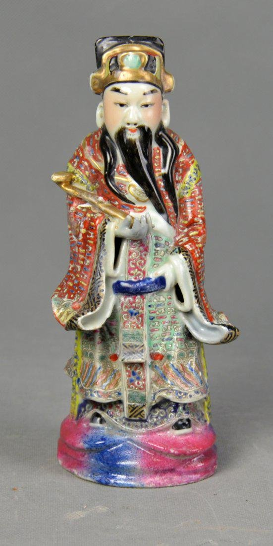 A Porcelain Statue of Ancient Chinese Civil Officer,