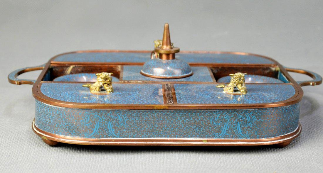 A Cloisonne Smocking-tool Box