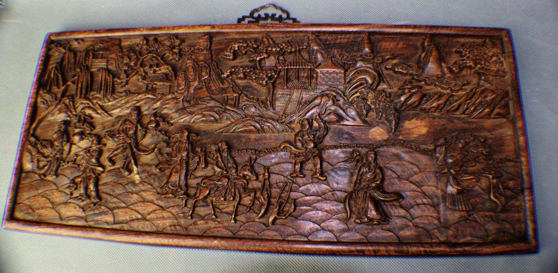 A Wood-carving Picture of Eight Fairies through