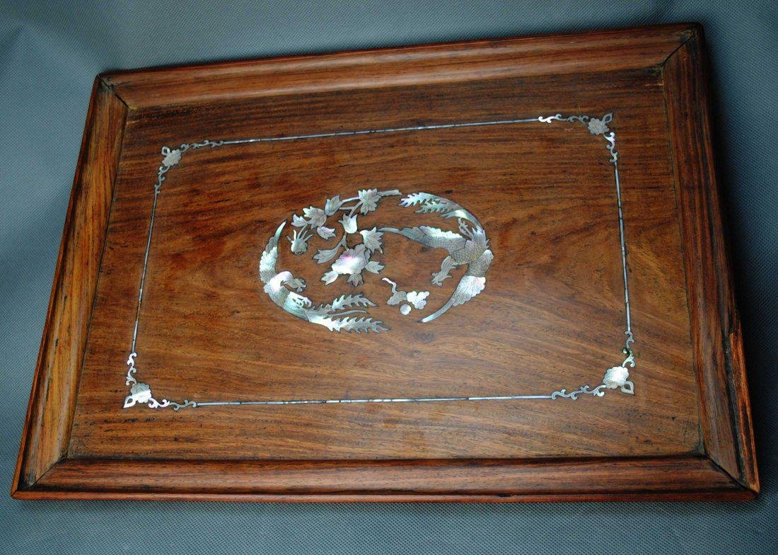 A Huang-hua-li Tray from Qing Dynasty