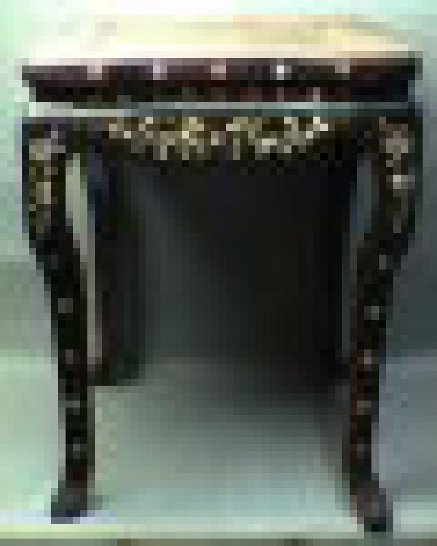 A Rosewood Stool Msaiced with Shell-flowers