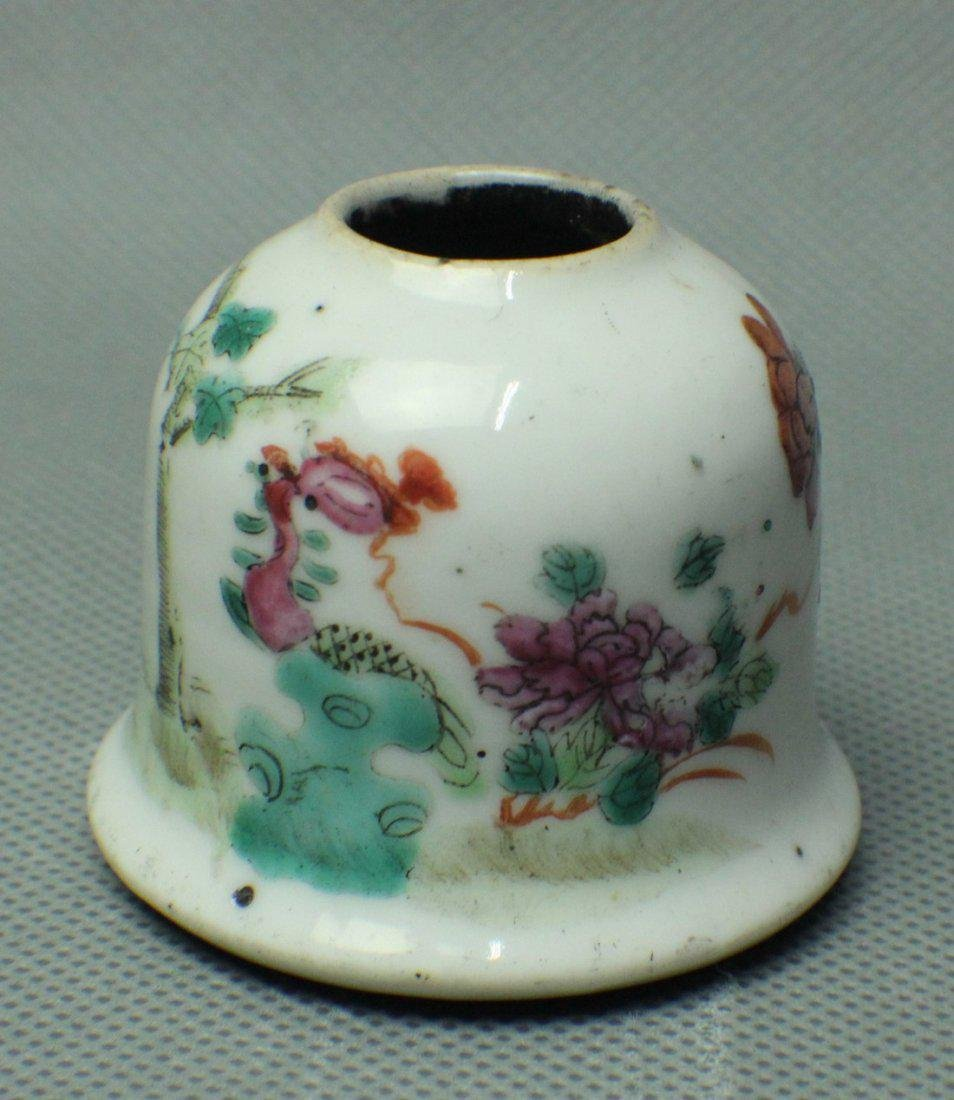 A FAMILE ROSE TEAPOT IN FLOWER AND BUID PATTERN