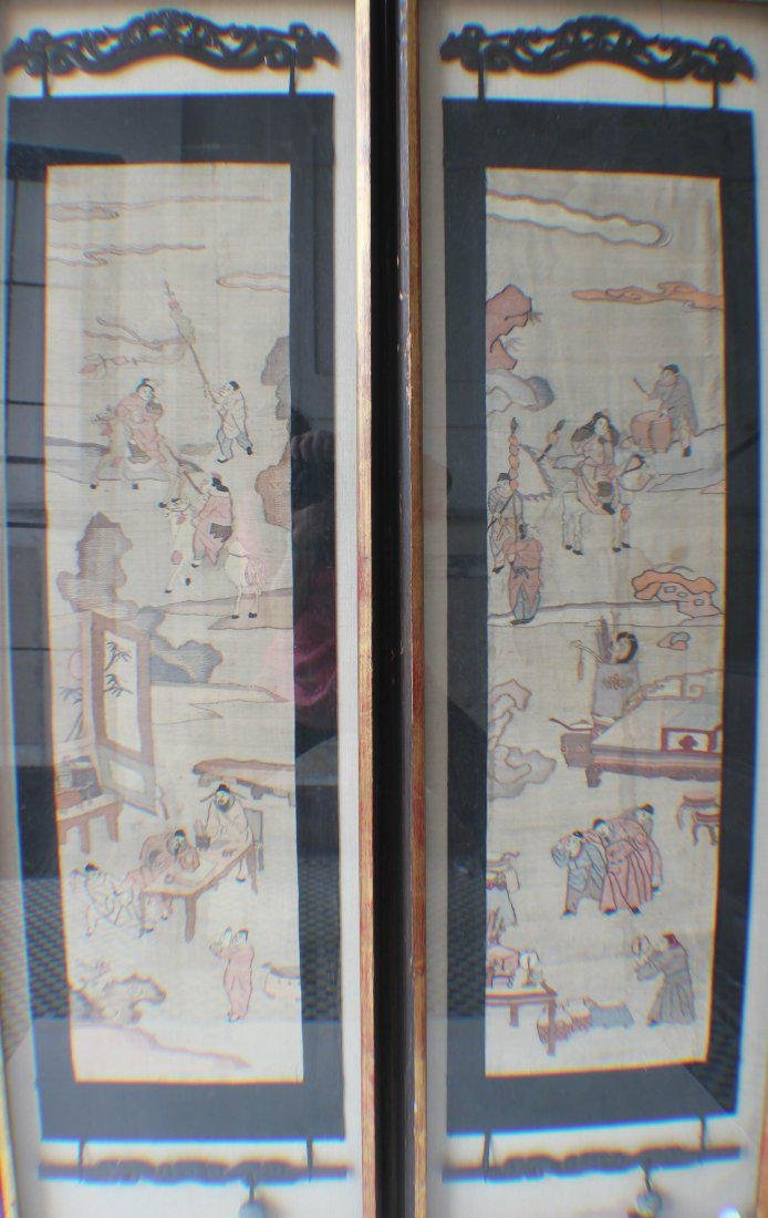 A Set of Chinese Silk Cutting Pictures of a Drunk
