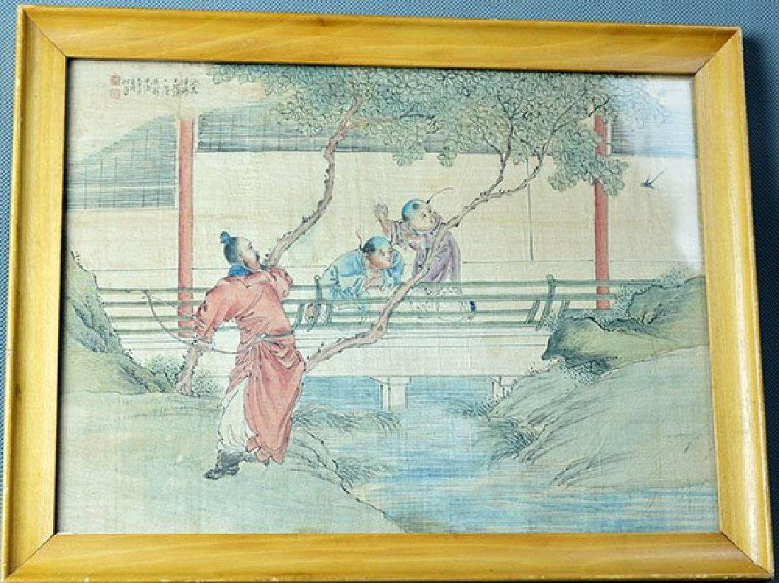 Chinese Painting from Qing Dynasty, Catch Bird