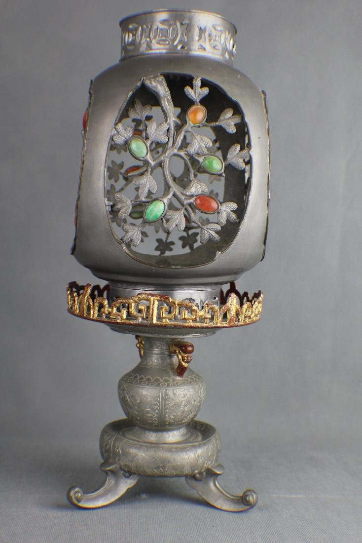 TIN CANDLESTICK QING DYNASTY