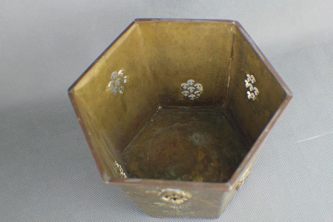 COPPER flower bowl