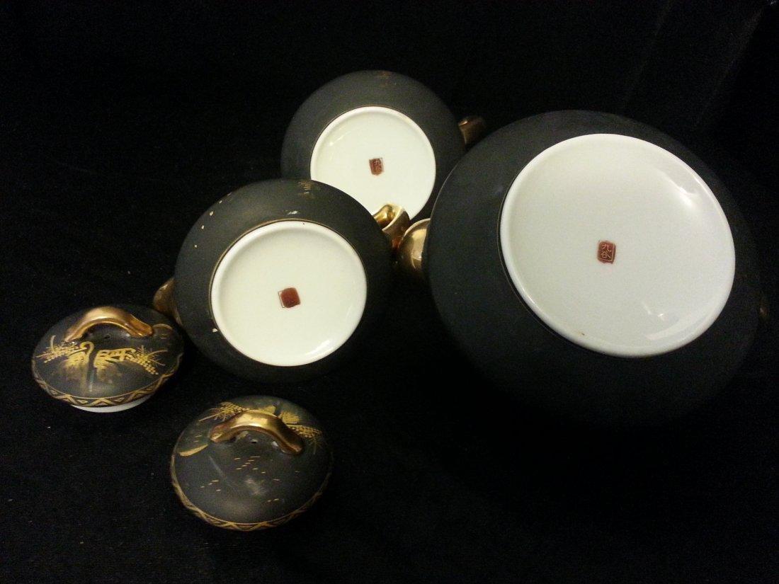 3 Japanese Imari porcelain covered - 3