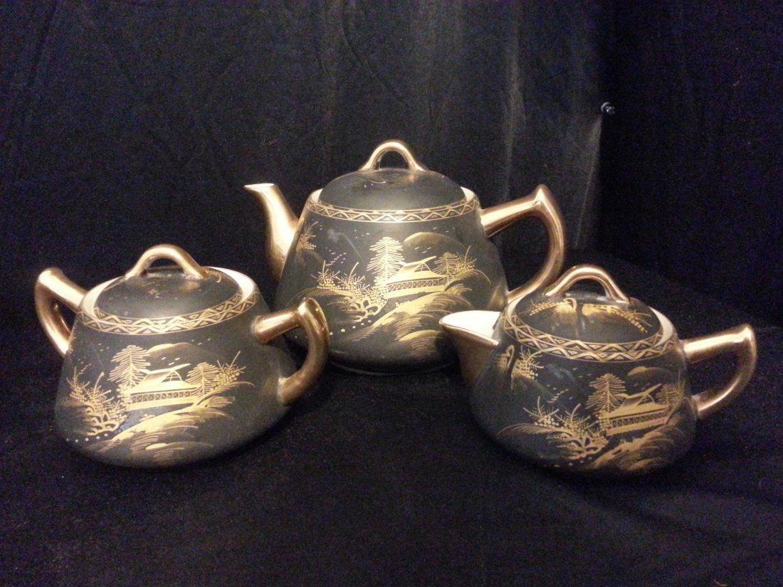 3 Japanese Imari porcelain covered - 4