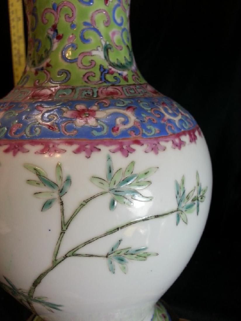Antique Chinese Famille Rose Porcelain VASE - 5