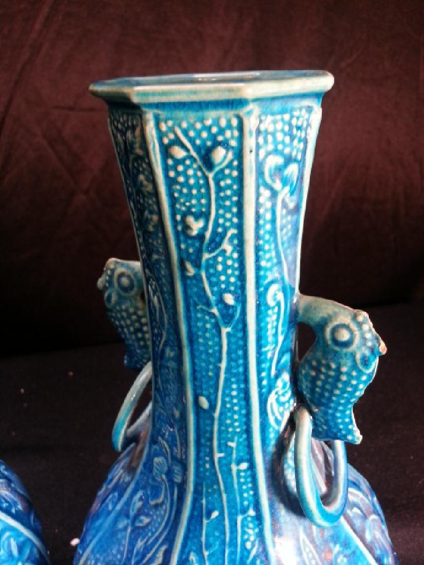 "A  pair Antique Porcelain Vase  early 19th"" - 4"