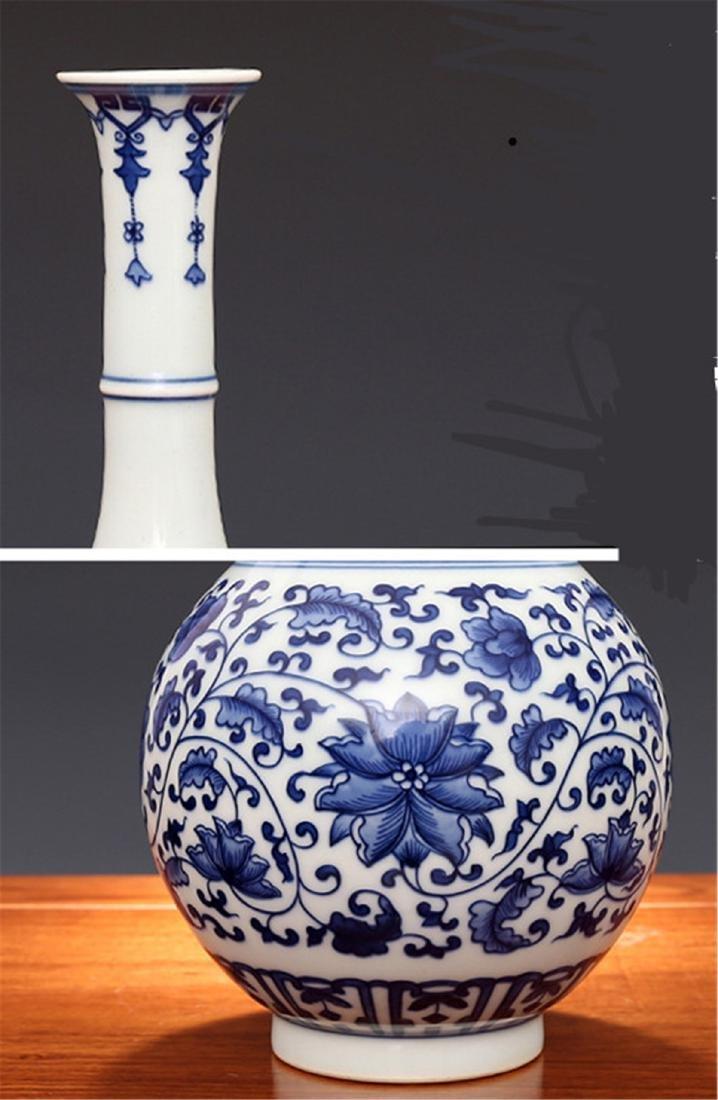 Qing Kangxi wrapped in a pattern, jade pot spring - 2
