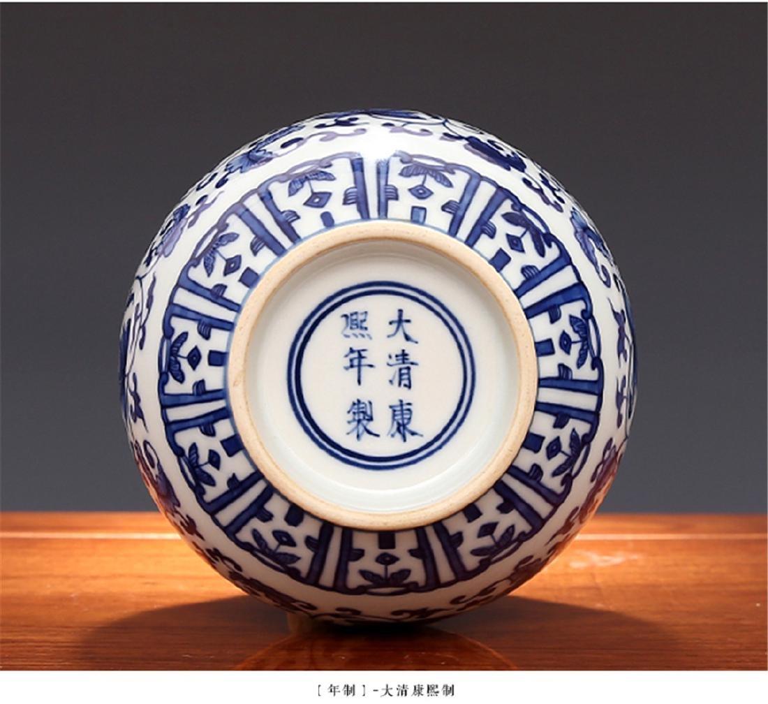 Qing Kangxi wrapped in a pattern, jade pot spring - 4
