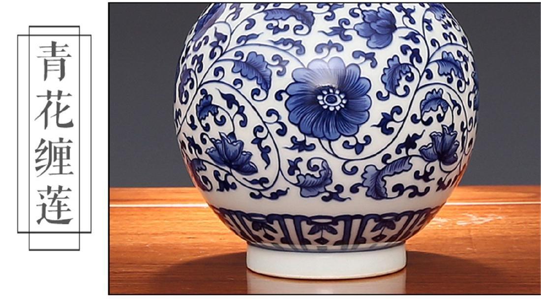 Qing Kangxi wrapped in a pattern, jade pot spring - 5