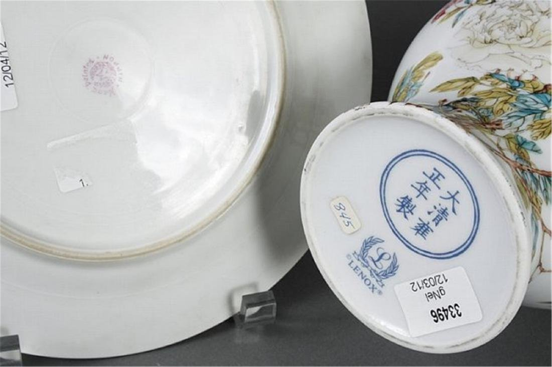 TWO PORCELAIN ITEMS DECORATED IN AN ASIAN STYLE - 3