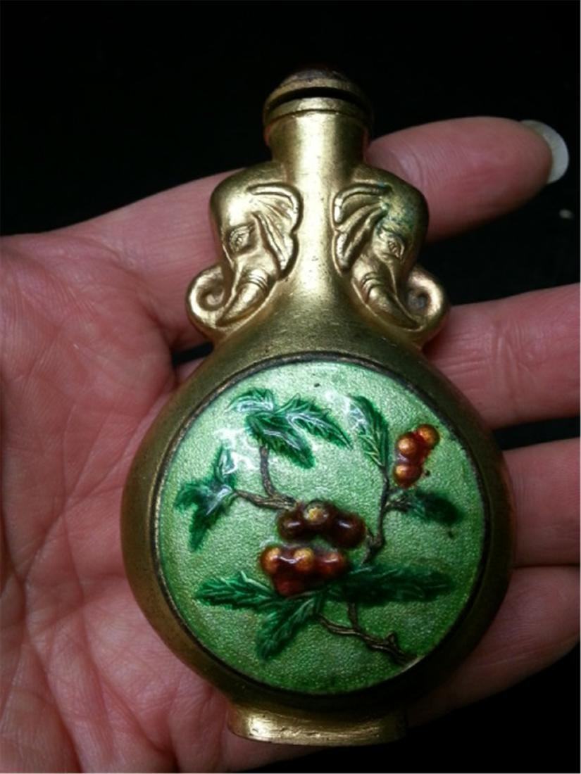 ANTIQUE CHINESE SNUFF BOTTLE - 2