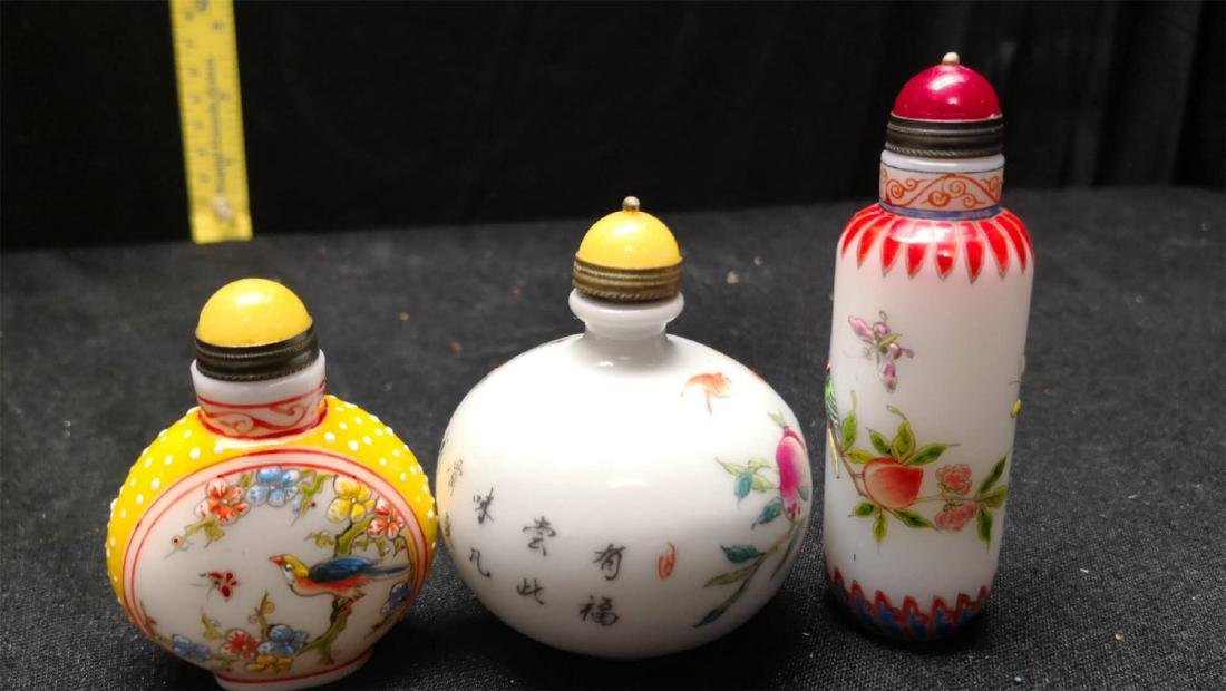 ANTIQUE CHINESE SNUFF BOTTLE - 3