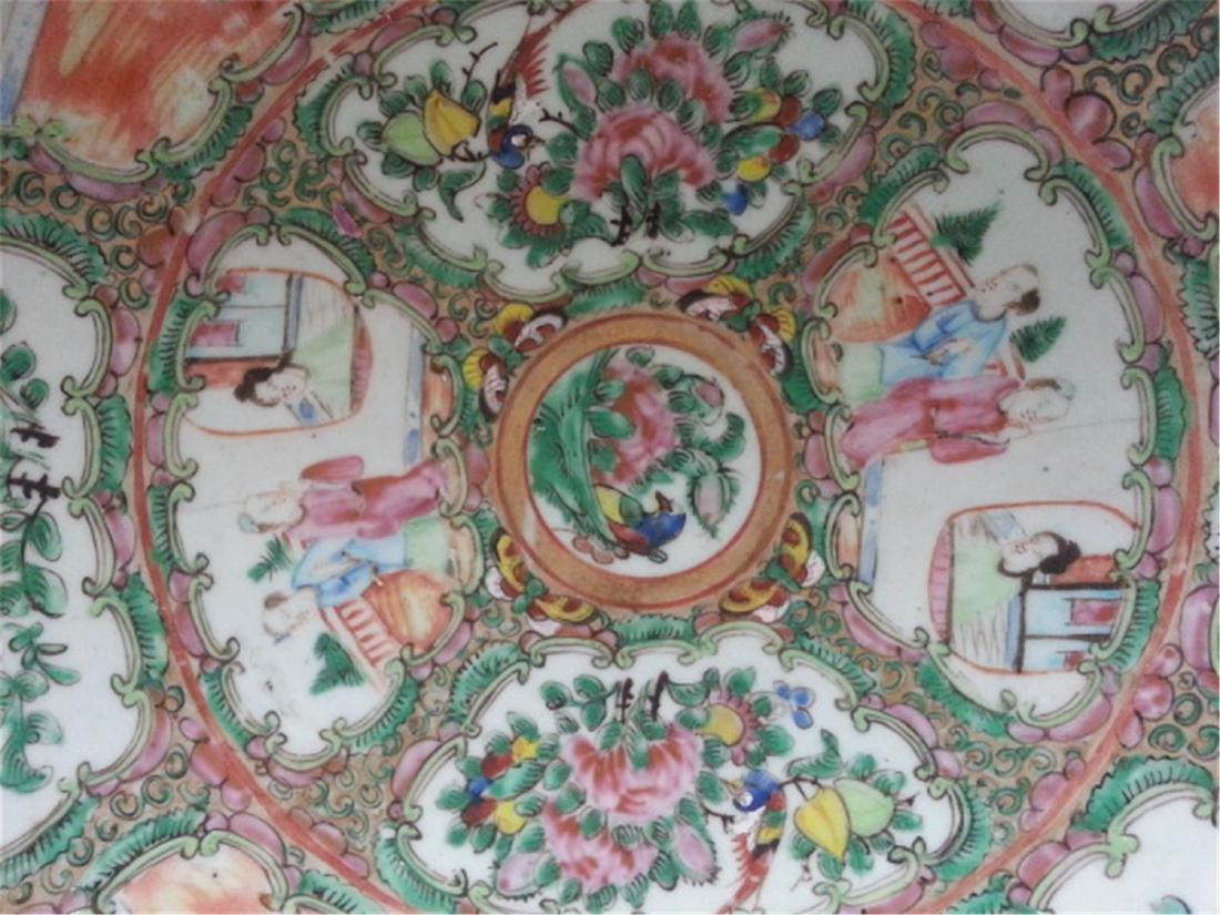 Big  19th Century Chinese Export Rose Medallion VASE - 3