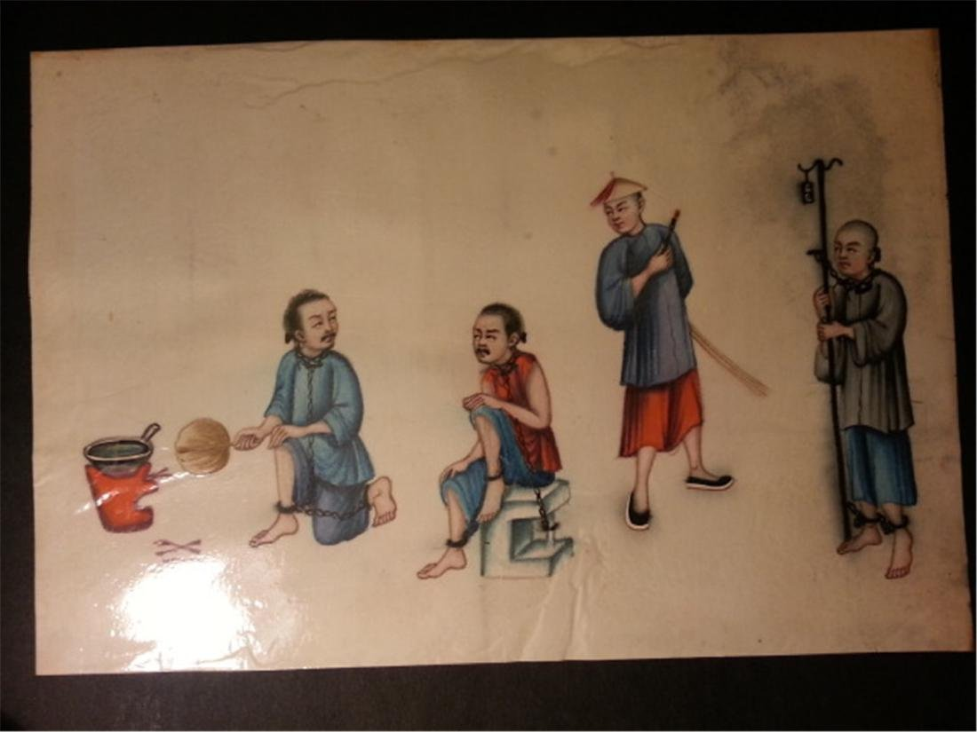 19th century Rice Paper Painting通草画 - 7