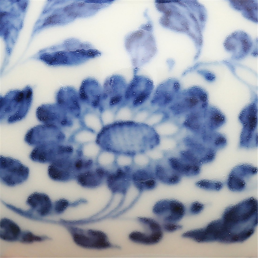 Ming Cheng Huanian System Blue and White Wrapped Flower - 3