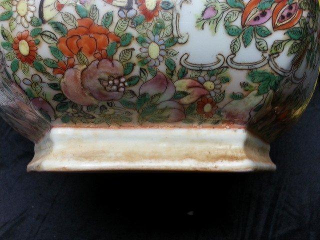 Famille Rose Procelain flower pot - 6