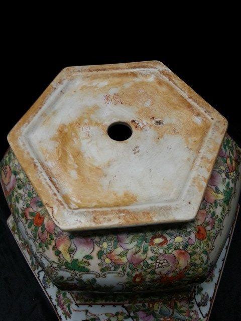 Famille Rose Procelain flower pot - 8