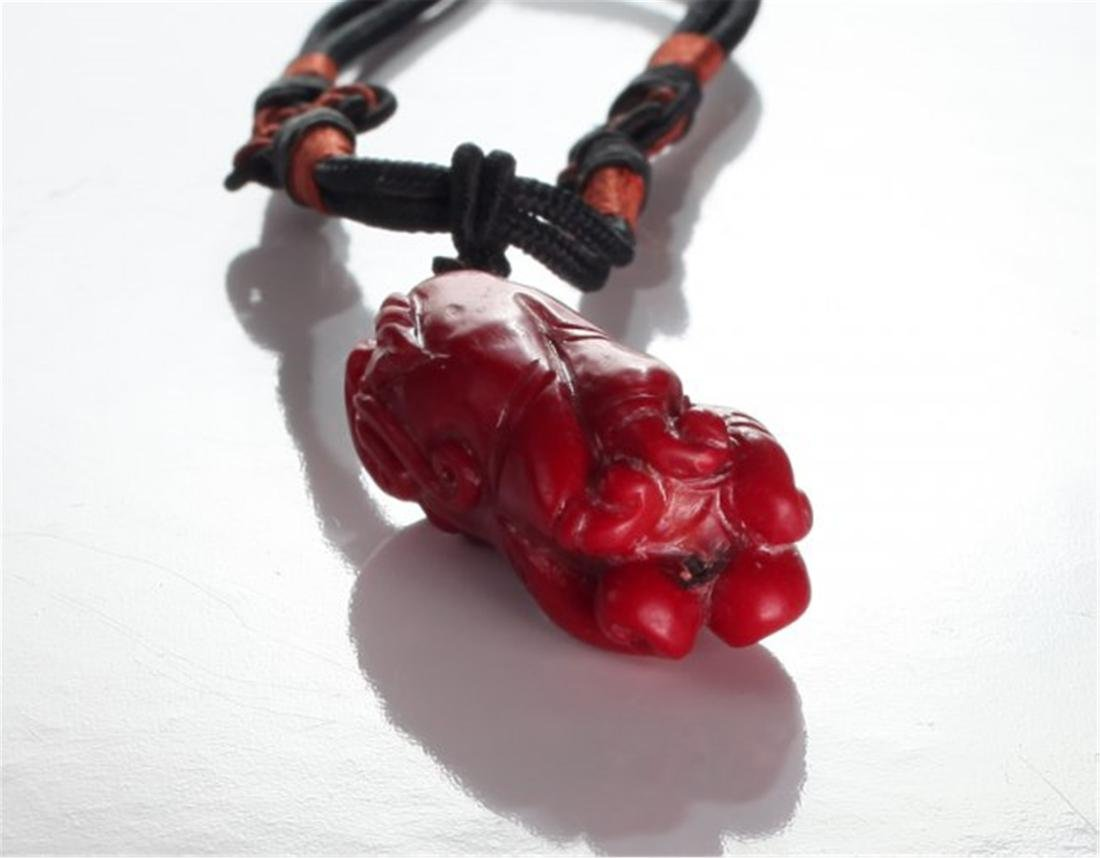 Chinese Coral Pendant Necklace - 4