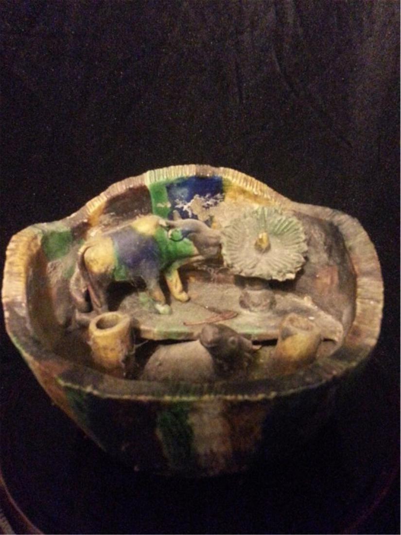 Chinese Antique porcelain brushpot