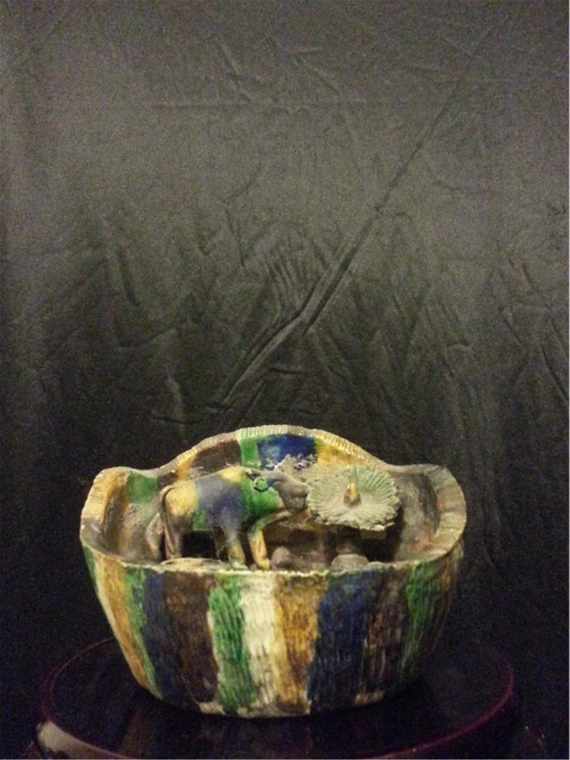 Chinese Antique porcelain brushpot - 4