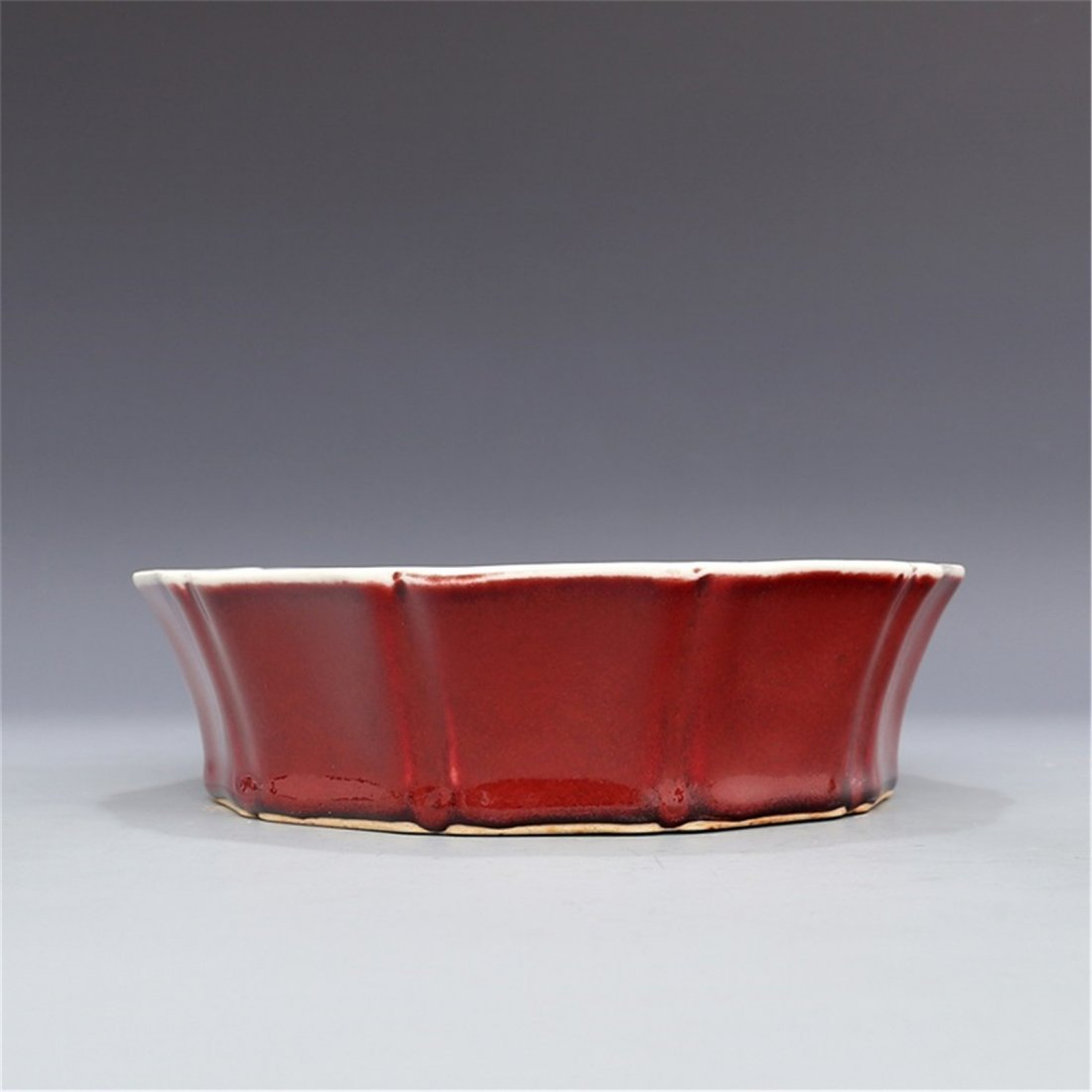 Ming Xuande Blue and white glaze red Xianglong wear - 5