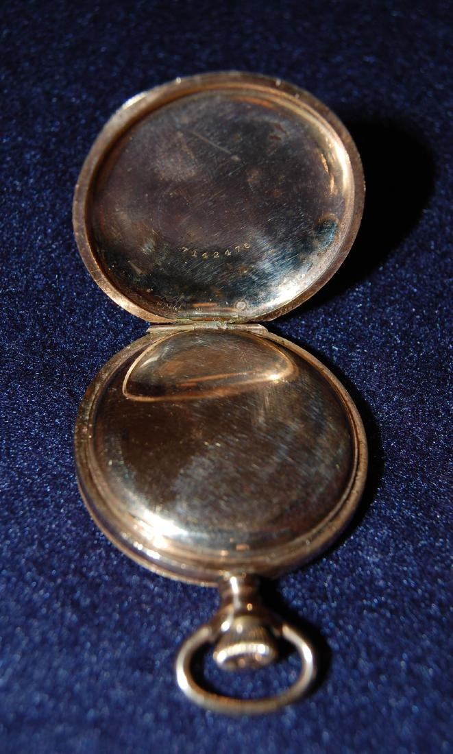 ELGIN 14K Gold Pocket Watch with Two-side Lid, D: 1 - 6