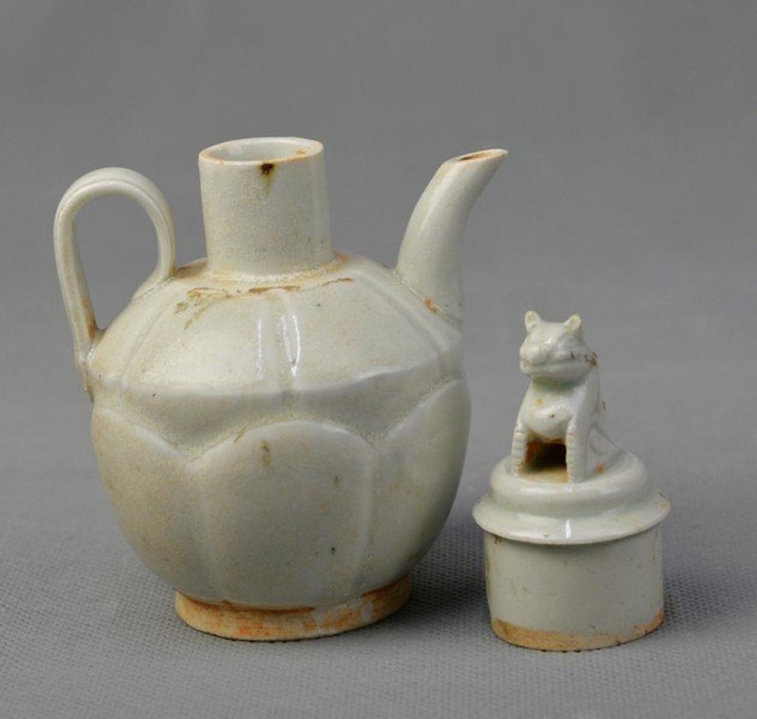Celadon Teapot Standing Loin on Capsule - 2