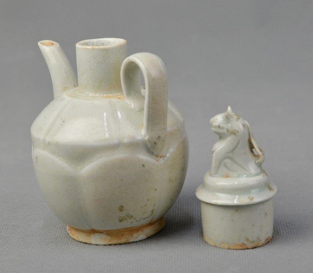 Celadon Teapot Standing Loin on Capsule - 3
