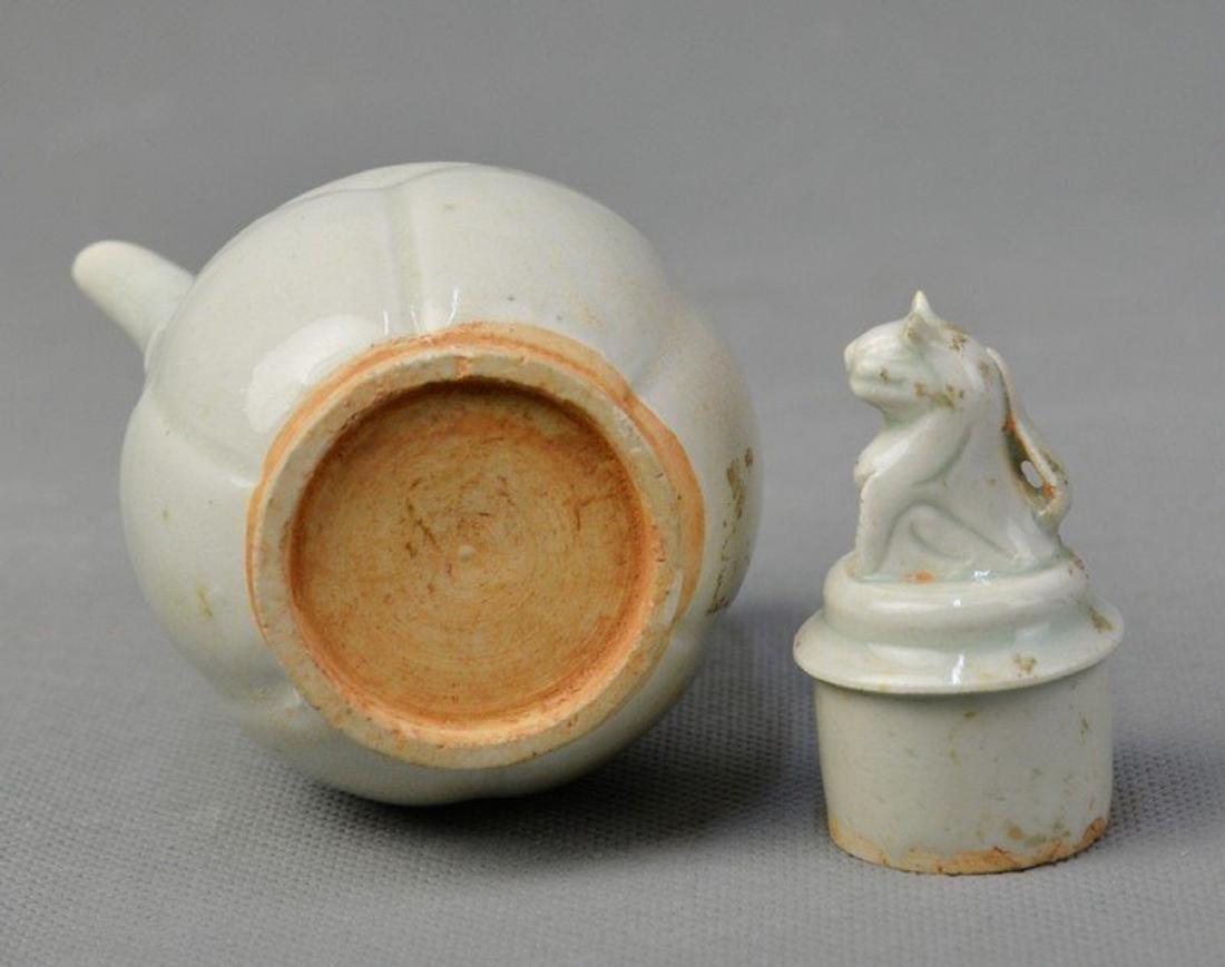 Celadon Teapot Standing Loin on Capsule - 4