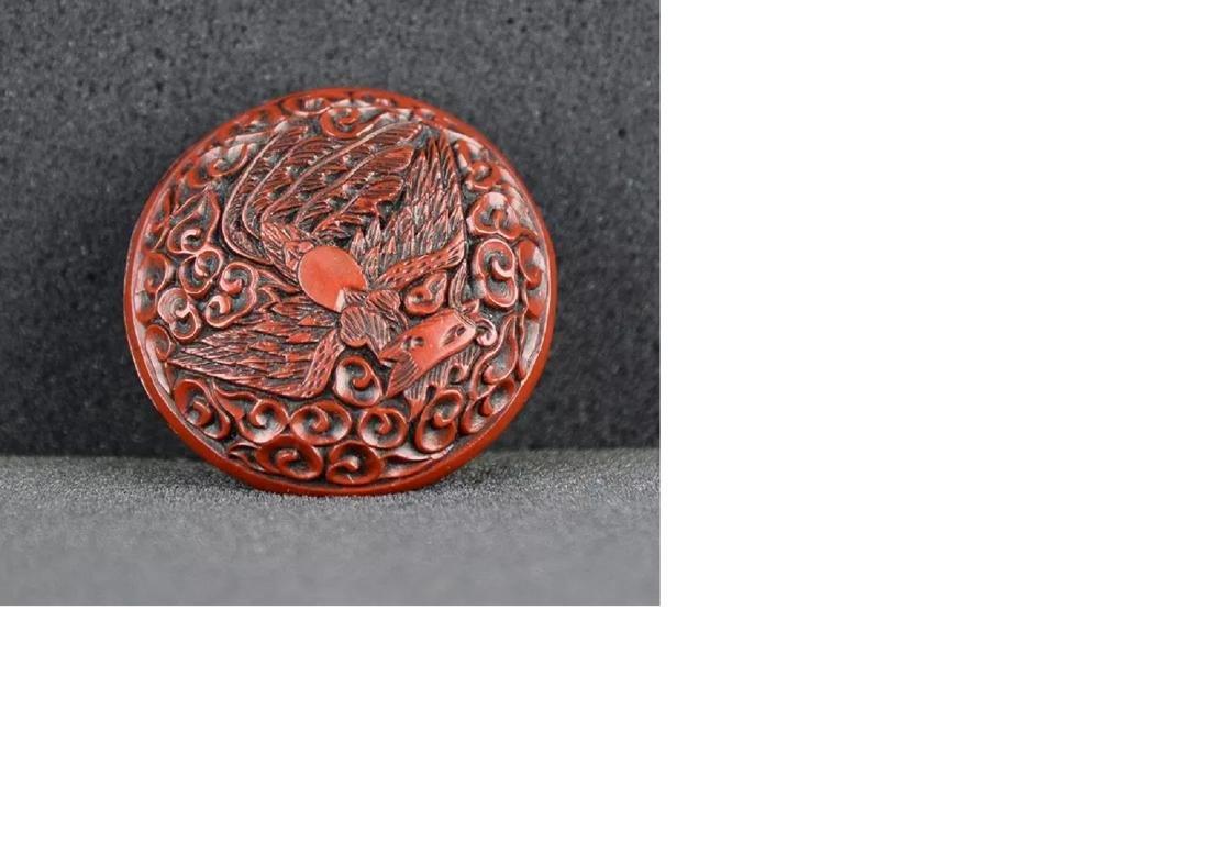 A Cinnabar Lacquer powder box
