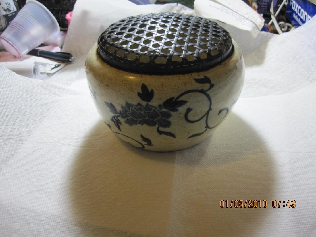 Blue and White incense burner