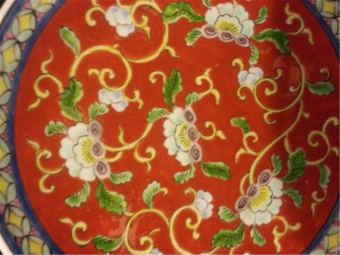 Late 19th Century Chinese Export Rose Medallion Dish - 2
