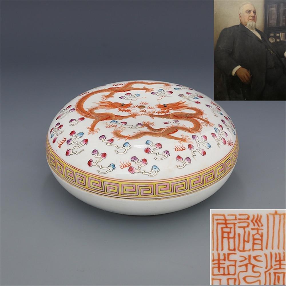 Daqing Daoguang Year System Pastel Shuanglong Opera