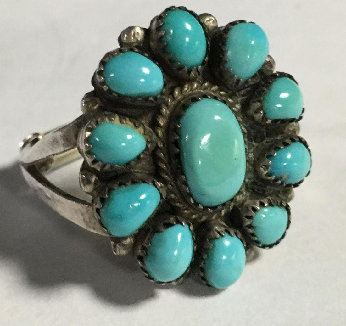 Signed J. Paselente Sterling & Turquoise Ring, Signed