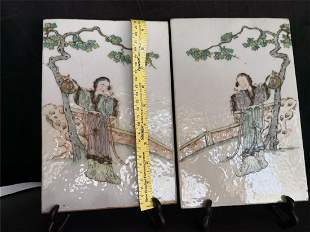 Qing Dynasty  A couple of porcelain plates
