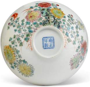 Qing Dynasty Yongzheng  bowi  From CHRISTIE