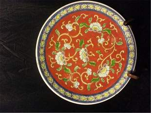 Late 19th Century Chinese Export Rose Medallion Dish