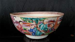 ?Antique Chinese Famille Rose Porcelain Bow???? w 8 in