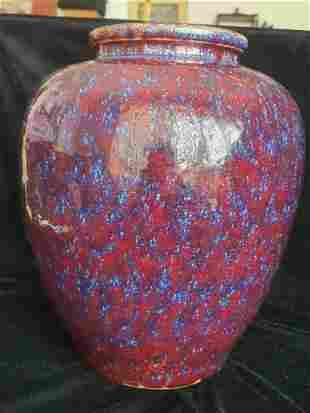 Big Qing Kiln Changing Glaze H33 cm