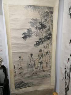 Hand-made scroll painting Zhang Daqian