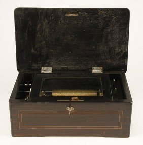 19th Century Swiss Cylinder Music Box
