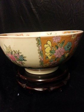 Antique Chinese Famille Rose Porcelain Bow