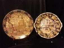 Two Antique Chinese Famille Rose Porcelain Dishes