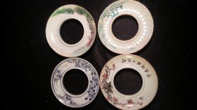 4 Antique Porcelain Cup Holder